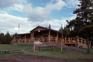 Exterior view of Chaunigan Lake Lodge.