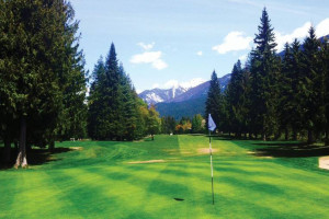 Golf course near Glacier House Resort.