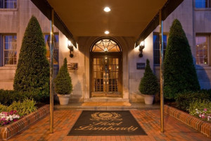 Front Entrance to Hotel Lombardy
