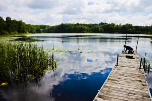 Dock at Tri Lake Timbers Resort.