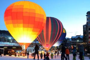 Hot air balloons at Edgemont Condominiums.