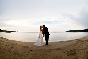 Couple on beach at Landmark Resort.