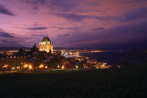 Night view at Fairmont Le Chateau Frontenac.