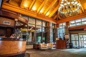 Lobby at Delta Banff Royal Canadian Lodge.