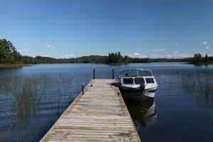 Dock view at Glenwood Lodge.