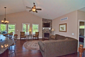 Rental living room at Old Kinderhook Resort & Golf Club.