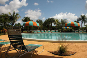 Outdoor swimming pool at Miami Everglades.