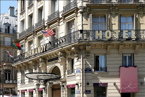 Exterior view of Normandy Hotel.