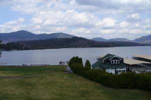 Lake view at Lake Placid Accommodations.