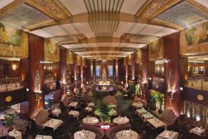 Lobby at Hilton Cincinnati Netherland Plaza.