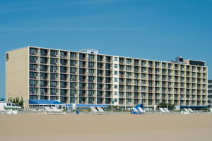 The beach at Best Western PLUS Oceanfront Virginia Beach.