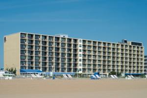 The beach at Best Western PLUS Oceanfront Virginia Beach.
