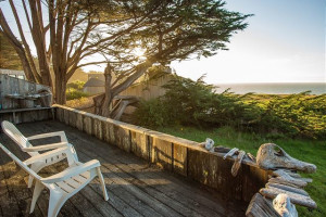 Rental deck at Sea Ranch Lodge Vacation Rentals.