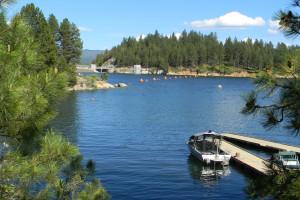 Lake view at The Ashley Inn.
