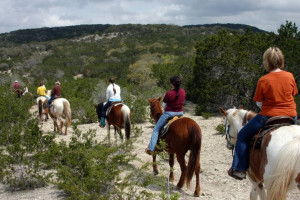 Horseback riding at Rancho Cortez.