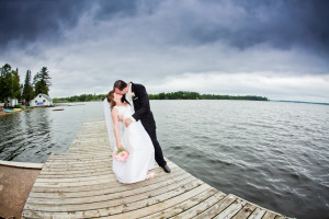Wedding couple at Bayview Wildwood Resort.