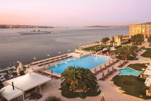 Outdoor pool at Ciragan Palace Hotel.