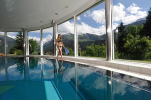 Indoor pool at TOP Hotel Waldegg.