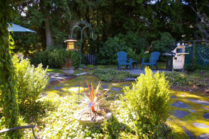 Guest house garden at Lost Mountain Lodge.