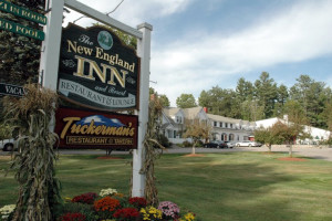 Inn entrance at The New England Inn & Lodge.