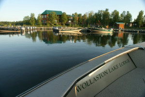 Exterior view of Wollaston Lake Lodge.