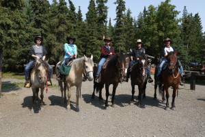 Horseback riding at Gwin's Lodge & Kenai Peninsula Charter Booking Service.