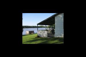 Lakeside view at Valentine Lakeside Resort.