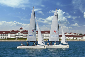 Sailing at Blue Harbor Resort and Spa.