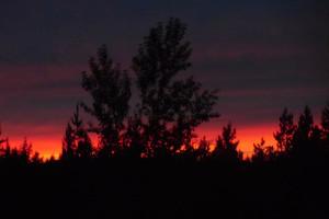 Sunset at Glaciers' Mountain Resort.