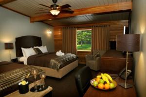 Guest room at Oakwood Resort.