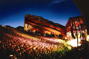 Red Rock Amphitheater near Colorado Bear Creek Cabins.