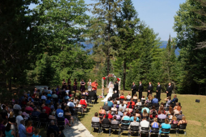 Outdoor Wedding Ceremony at UAW Black Lake