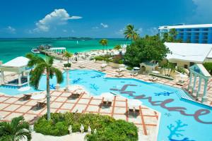 Outdoor pool at Sandals Royal Bahamian Resort and Spa.