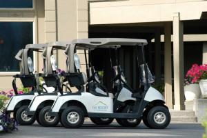 Golf carts at The Resort at the Mountain.