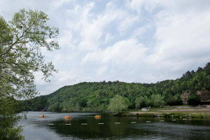 Lake view at Beavers Bend Getaway.