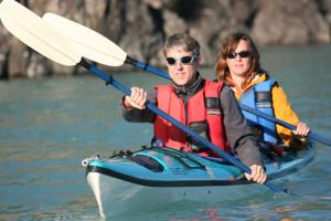 Kayaking at Kenai Backcountry Lodge.