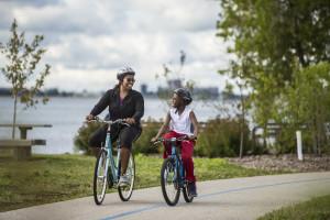 Bike riding at Edgewater Hotel & Waterpark.