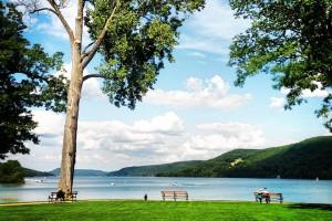 View of Lake Otesaga from The Otesaga Resort Hotel.