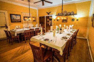 The main dining room at the Lodge on Little St. Simons Island.