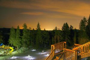 Sunset at Eldora Lodge.