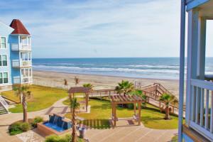 Beach view at Ryson Vacation Rentals.