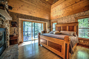 Rental bedroom at Bayfield Best House Rentals.