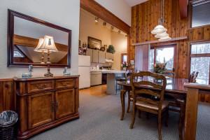 Executive suite kitchen at Kandahar Lodge.