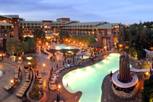 Outdoor pool at Disney's Grand Californian Hotel.