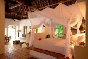 Guest room at Vatulele Island Resort Fiji.