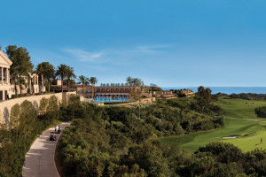 Exterior view of The Resort at Pelican Hill.