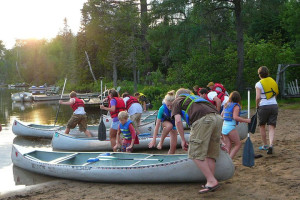 Canoe trips at Bearskin Lodge.
