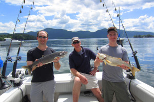 Fishing on Lake George near Travelodge Lake George.