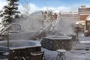 Hot tubs at Beaver Run Resort.
