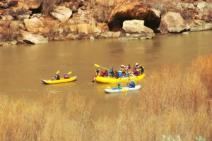 Water activities at Red Cliffs Lodge.
